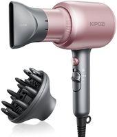 Kipozi Profi-Haartrockner KP-QL-5917DC-RG, Ionen-Technologie, 1875W, 3 Wärmeeinstellungen mit Diffusor & Stylingdüse, 2 Geschwindigkeitsstufen, Unisex, Rosa, Schnell Trocknend