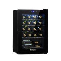 Klarstein Shiraz 20 Uno Weinkühlschrank , Volumen: 53 Liter , Temperaturen: 5-18 °C , Platz für 20 Flaschen Wein , 42 dB , Soft-Touch-Bedienfeld , 4 Regaleinschübe , LED-Innenbeleuchtung , freistehend , schwarz