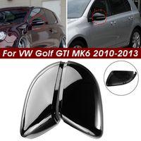 2x Außenspiegel Spiegelkappen Spiegelgehäuse Plastik Für VW Golf GTI MK6 Touran