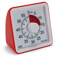 "TimeTEX Zeitdauer-Uhr ""lautlos"" compact rot"
