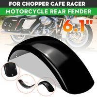 """6.1"""" Flat Motorrad Kotflügel Schutzblech Hinten 58cm Für Bobber Chopper Cafe"""