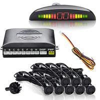 karpal Einparkhilfe Rueckparkhilfe 8 Sensoren LED Farb Display Schwarz zum Nachruesten hinten Lautsprecher IP67¡