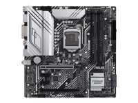Asus PRIME Z590M-PLUS Speichersteckplätze 4, Unterstützte Festplattenschnittstellen M.2, SATA, Anzahl SATA-Anschlüsse 5, Chipsatz Intel Z, Prozessorfamilie Intel, Micro ATX, DDR4, Prozessorsockel LGA1200