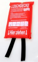 Löschdecke Feuerlöschdecke 1x1m bis 1250°C DIN EN 1869
