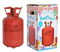 Boland heliumtank Stahl rot 30 Latex-Ballons