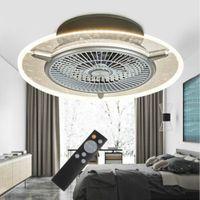 56cm Deckenventilator Lüfter Ventilator LED Dimmbar Beleuchtungslampe 3 Farben mit Fernbedienung 40W 220V