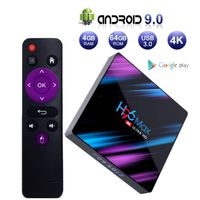 H96 MAX Android 9.0 TV Box 4 GB 64 GB EstgoSZ Android Box USB 3.0 / BT 4.0 / 2.4G 5G Dual WiFi / 3D / 4K / H.265 KD18.1 Intelligente Android TV Box