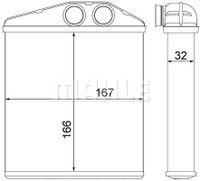 MAHLE ORIGINAL Wärmetauscher Innenraumheizung für OPEL CORSA C F08 F68