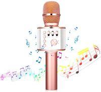 bluetooth Karaoke Mikrofon,tragbar drahtlos dynamisch Mikrofon, 4.1 Lautsprecher