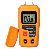 Feuchtemesser mit 2 Pins Sensor Digital Holzfeuchtemessgerät Feuchtigkeitsmessgerät für Brennholz, Holz, Estrich, Beton und weitere Baumaterialien Feuchtigkeits Detector