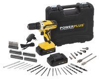 Powerplus POWX00820, 1400 RPM, 1 cm, 2,5 cm, 35 Nm, 400 RPM, 1400 RPM