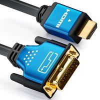 deleyCON 1m HDMI zu DVI Kabel High Speed - 1080p Full-HD 3D Ready - HDMI auf DVI Adapterkabel