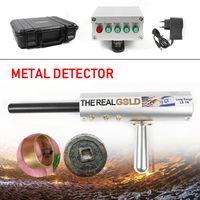 800M Metalldetektor Golddetektor AKS 3D Tiefensonde Suchgerät Gold Metal Silber Kupfer Diamant Detector Digger Schatzsucher Metallsuchgerät Handheld (Silber)