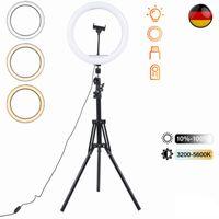 160cm Stativ 12 Zoll Dimmbare LED Ringlicht Fotostudio Selfie Lampe & Ständer für Makeup Kamera