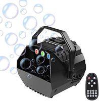 3in1 Bubble Gerät Seifenblasenmaschine Bühnenlicht Bubblemaker Sprudelmaschine   LED RGB Bühnenlicht DJ Party  mit Fernbedienung