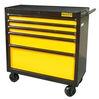 STANLEY FATMAX FMHT0-74027 Werkstattwagen mit 5 Schubladen - verschließbarer Werkzeugwagen auf Rollen - Gesamtbelastbarkeit bis 635 kg