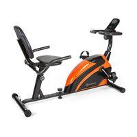 Klarfit Relaxbike 6.0 SE Liege-Ergometer - Cardiobike , Heimtrainer , Schwungmasse: 12 kg , 8-Stufiger Magnetwiderstand , Tablethalterung , PulseControl , SilentBelt Drive , max. 100 kg , orange