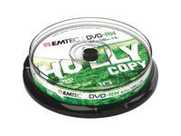 EMTEC - 10 x DVD-RW - 4.7 GB ( 120 Min. ) 1x - 4x - Silber - Spindel