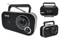 Radio Retro UKW Kofferradio Netz-oder Batteriebetrieb Denver TR-51 BLACK
