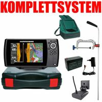 Humminbird Helix 7 Chirp GPS Mega SI G3 Side Imaging GPS Kartenplotter Echolot Portabel Profi Edition Plus – Komplettsystem