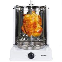 Syntrox Chef Grill ROQ-1400W-W Dönergrill Rotisserie mit drehbaren Außenspießen und Timer