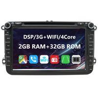 8 zoll Android 10 DVD Autoradio GPS WIFI AUX USB für VW Golf 5/6 V VI, Passat B6, Tiguan, Polo, Jetta, Touran, Candy, Shran, EOS, Skoda Fabia, Octavia Yeti, Seat Leon.