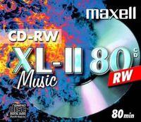 Maxell CD-RW MUSIC, CD-RW, 700 MB, 4 x, 142 x 125 x 10 mm, Schmuckkasten