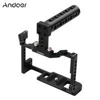 Andoer Camera Cage + Top Handle Kit Aluminiumlegierung mit doppelter Kaltschuhhalterung 1/4 Zoll Schraube Kompatibel mit Canon EOS 90D / 80D / 70D DSLR-Kamera