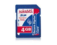 takeMS HyperSpeed 133x, 4 GB, Secure Digital (SD), Blau