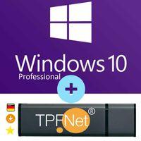 Microsoft® Windows 10 Pro 32 bit & 64 bit - Original Aktivierungsschlüssel mit bootfähigen USB Stick von - TPFNet®