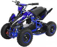 Elektro Quad Miniquad Kinder Racer 1000 Watt Pocket Kinderquad Pocketbike ATV (Schwarz/Blau)