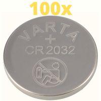 100x Varta Lithium 3V CR2032-P Bulk 3V/220mA lose