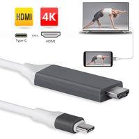 Neu Type C USB-C auf HDMI 4K Typ C Zu HDMI TV Kabel Adapter Konverter Für Samsung HUAWEI Macbook