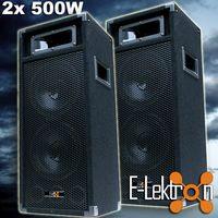 E-Lektron PW220 stereo DJ PA Party Lautsprecher Paar - EL179746