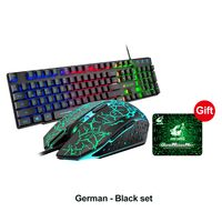 GEEMAX (Deutsches Tastaturlayout)  3 tlg. RGB Gaming Tastatur + Maus + Mauspad Set 2021 super cool mechanisch beleuchtet LED