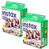 2 x FUJI Instax Wide Film für FUJI Instax 100 / 200 / 210 Kameras, 40 Aufnahmen