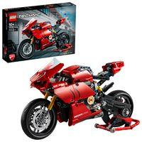 LEGO 42107 Technic Ducati Panigale V4 R Motorrad, Supermotorrad-Schaustück für Sammler, Set für Kinder und Erwachsene