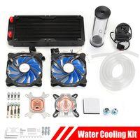 DIY PC Wasserkühlung Set CPU Block 240mm Kühlkörper Heizkörper + LED Lüfter
