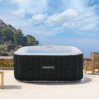 AREBOS In-Outdoor Whirlpool Spa Pool Quadratisch | 4 Personen | 130 Massagedüsen - direkt vom Hersteller