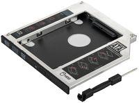 """Poppstar Laufwerksrahmen für 2,5"""" SSD HDD Festplatte (7mm, 9,5mm) in 9,5mm Sata 3 CD-DVD Schacht (Notebook, Laptop, etc.), Festplattenrahmen Aufrüstset"""