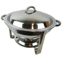 Chafing Dish Speisenwärmer Warmhaltebehälter Edelstahl Deckel 5 Liter rund