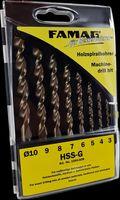 FAMAG Holzspiralbohrer-Satz HSS-G 8-tlg. *3 in Kunstst.-Box 3-4-5-6-7-8-9-10 mm 8-teilig in Kassette Ø 3, 4, 5, 6, 7, 8, 9, 10 mm 159483800