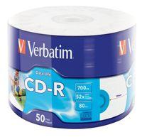 VERBATIM CD-R 700MB 52x 50er Wrap bedruckbar