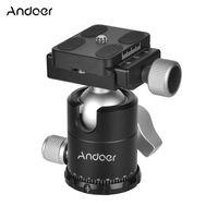 Andoer X-30S Aluminiumlegierung Kugelkopf Kugelkopf Stativkopf Einbeinstativkopf Panorama Kugelkopf Aluminiumlegierung mit Schnellwechselplatte für Sony Nikon Canon Kameras Camcorder DSLR max. Belastbarkeit 10kg