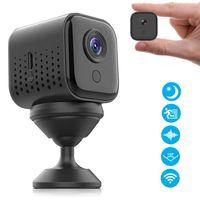 WLAN Mini Kamera,  HD 1080P WiFi Akku Überwachungskamera, Kleine Nanny Cam mit Bewegungsmelder, Infrarot Nachtsicht