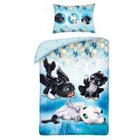 Disney Dragons Drachenzähmen  - Kinder Babybettwäsche - Set 100x135 40x60cm