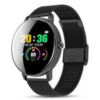 Abtel Smartwatches Bluetooth Wasserdichtes Smartwatch Herzfrequenz-Blutdruckmessgerät,Farbe: Schwarzer Stahl