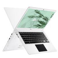LincPlus P3 Laptops 14 Zoll 1080p Full HD Ultrabook, 4 GB RAM 64 GB eMMC aufrüstbar mit bis zu 512 GB SSD Windows 10 S Deutsch QWERTZ Layout Tastatur