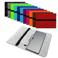 Laptop Hülle Filz Sleeve Ultrabook Laptop Tasche Case für Apple Lenovo Asus Dell, Farbe:Grau, Größe:15 - 15.6 Zoll