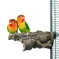 Vogel-Sitzbrett aus Natur Kork - Medium